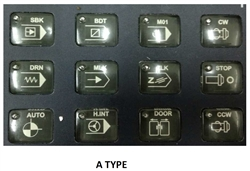12 KEY PANEL BOARD (WITH 12 PUSH BUTTONS) FOR AUX FUNCTION (TYPE A)