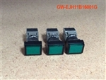 ELECTRICAL: CONTROL PANEL: PUSH BUTTON COVER GREEN (W/ LED) (AH 165-TF)(SET OF 3)