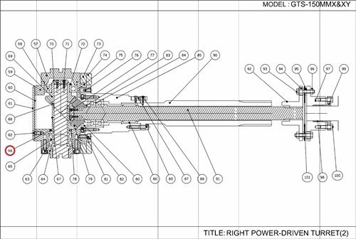 GTS-150/GLS-1500 SERIES: TURRET: O-RING SEAL KIT
